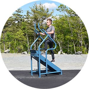 Everest cardio climber outdoor fitness equipment in park