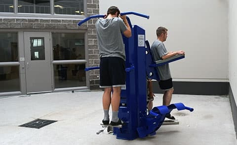 outdoor fitness equipment for correctional facilities