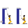 Upper Back Pull Down Illustration