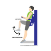 Vertical Knee Raise Illustration